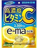 UHA味覚糖 e-maのど飴 VCレモン ビタミンC 50g×6袋
