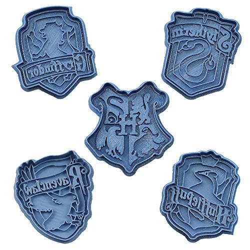 Cuticuter Hogwarts Harry Potter opakowanie foremek do ciastek, niebieskich, 16 x 14 x 1,5 cm, 5 sztuk