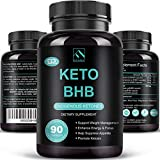 Keto Pills - Keto Diet Pills (800mg | 90 Capsules), BHB Ketogenic Supplement Exogenous Ketones Ketosis Keto Fast Burn Capsules - Support Weight Management & Metabolism, Boost Energy & Focus