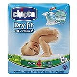 Chicco DryFit - Pack de 19 pañales ultra absorbentes, talla 4, 8-18 Kg