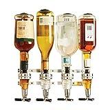 HRRH Dispensador de Botellas de Alcohol, 4 sostenedor de Botella de Vino con Resorte Pourer para Beber Fiesta Cerveza Gaseosa Coca-Cola Dispensador de Vino con Gas gaseoso