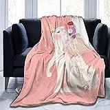 JOOCAR Mantas y mantas de franela manta para sofá/cama manta de felpa, linda manta blanca de conejo de Pascua de felpa, manta mullida de regalo para bebé niña niño papá mamá