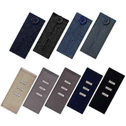 Knopf hosenerweiterung für Jeans und hosen erweiterungen für Anzughosen, 9-teilig, mehrfarbig