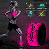 ELANOX - Fascia Luminosa a LED per Sport e attività all'Aria Aperta, per Bicicletta, Jogging, Passeggino, 1 St. Pink