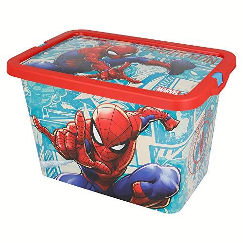 Stor 1 Boîte Click 7 litres Spiderman Comic Book, Plastique, Multicolore, No aplica
