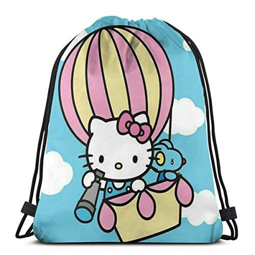 zicheng Classic Drawstring Bag-Flying Kitty Gym Backpack Shoulder Bags Sport Storage Bag For Man Women