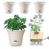 20 cm vaso da fiori autoirrigante vaso di stoccaggio dell'acqua vaso da fiori vaso profondo vaso fioriera contenitore per piante da appartamento, fiori, erbe, piante grasse decorazione della casa