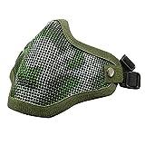 WorldShopping4U Airsoft Taktische Schützend Halbes Gesicht Metall Stahlnetz Maske für die Jagd...