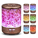 P PADDYFIELD Aromatherapy Essential Oil Diffuser Himalayan Salt Lamp Cool Mist Humidifier 150ml Ultrasonic Diffuser, Adjustable Fog Mode Without Water Automatically Shut Off and 7-Color LED Light.