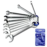 SPEEDWOX Mini Wrench Metric 10 Pcs Ignition Wrench Set 4mm-11mm Open End and Box End Standard Combination Wrench Spanner for Assembling Furniture Small Equipment Auto