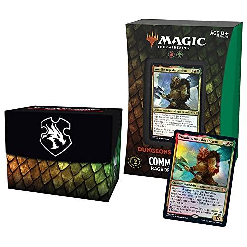 Magic The Gathering- Deck Commander Forgotten Realms : Aventures dans Les Royaumes Oubliés – Rage draconique (Rouge-Vert)
