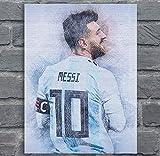 DPFRY Leinwand Malerei Wandkunst Bild Lionel Messi