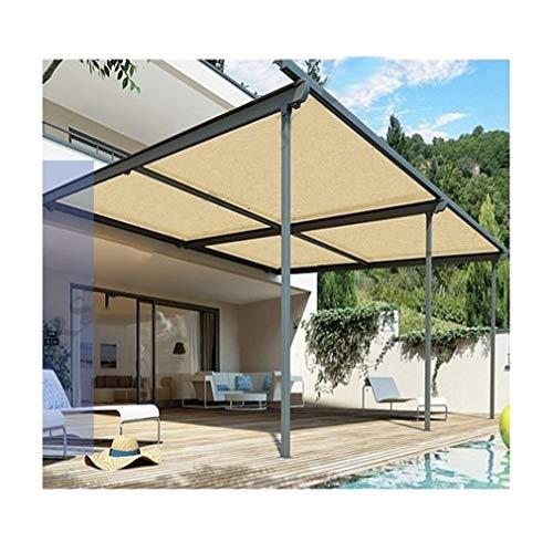 ALGFree Toldo Vela de Sombra Toldos Protector Solar Aislar el Calor 90% Balcón al Aire Libre Enfriarse Techo Habitación Plantas Jardín Protección Solar,21 Tallas (Color : Beige, Size : 2×6m)