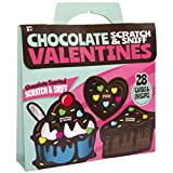Red Robin Greetings Chocolate Scratch & Sniff Valentines Cards For Kids (28-Count)
