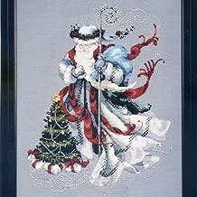 Winter White Santa Cross Stitch Pattern