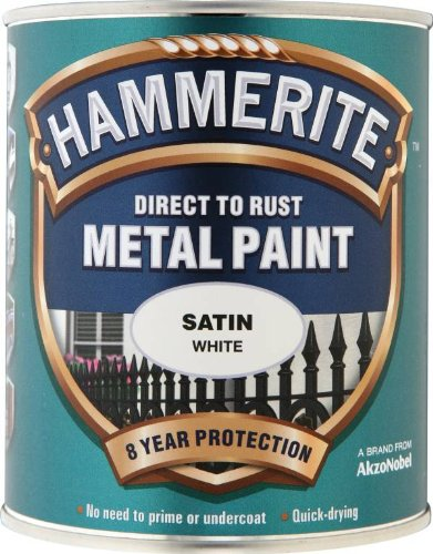 Hammerite 5092886 Direct to Rust Metal Paint with Satin Finish, 750ml,...