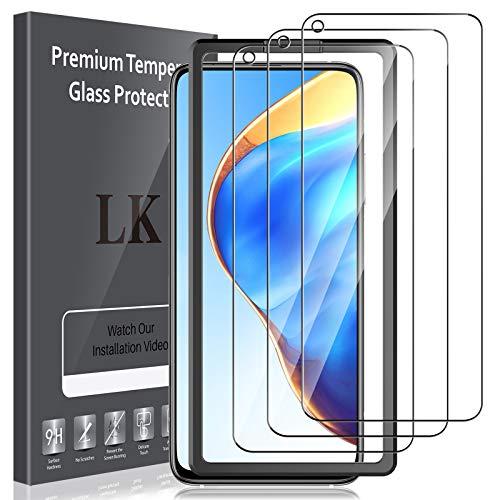 LK Compatible con Xiaomi Mi 10T 5G/10T Pro 5G Protector de Pantalla,3 Pack,9H Dureza Cristal Templado, Equipado con Marco de Posicionamiento,Vidrio Templado Screen Protector