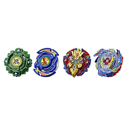 Beyblade Burst Evolution Elite Warrior 4-Pack - 4 Iconic Right-Spin Battling Tops, Age 8+ Toy (Amazon Exclusive)