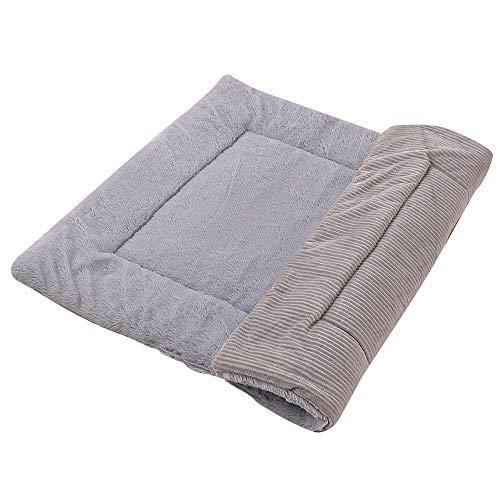 Vejaoo Hundematte Weiche und warme Matte Liegedecke für Hunde und Katzen Sofa für Heimtiere XZ014 (S(58 * 40CM), Wicker Gray)