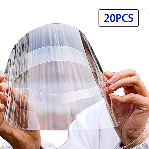 TRAXANDCO Le Masque Facial Protège Les Yeux et Le Visage avec Une Bande Elastique de Film Transparent de Protection (20)