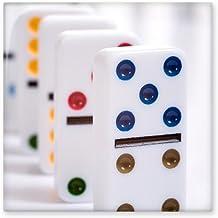 DIYthinker Pai Gow Dominoes Dobbelstenen Gokken Glanzende Keramische Tegel Badkamer Keuken Wandsteen Decoratie Craft Gift