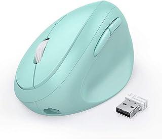 LIUCHEN ratónRatón inalámbrico Recargable 2.4G Ratón Vertical para computadora portátil Gaming 2400DPI 6 Botones Ratones d...