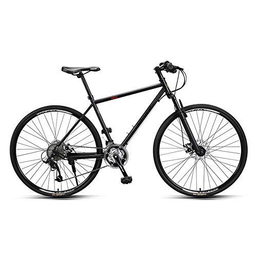 Bicicleta, Bicicleta de carretera, Bicicleta de carretera de 27 velocidades, Bicicleta de carreras híbrida deportiva para adultos, Rueda 700C, No es fácil de deformar, Freno de disco doble/Neg