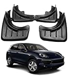sooloon Automotive Car Wheel Tire Mud Flaps Splash Guards Fender Mudguard Front and Rear Kit Compatible with Porsche 2014-2019 Macan 2006-2010 2011-2017 2018 Cayenne 4Pcs (2006-2010 Cayenne)