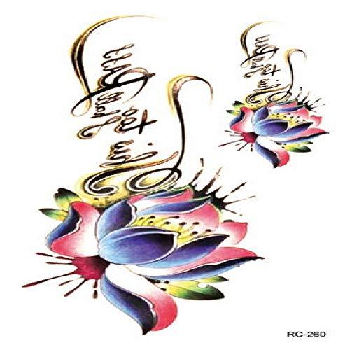 Color impermeable etiqueta engomada del tatuaje flor tatuaje pegatinas verano pequeño tatuaje fresco 3Pcs-30 105 * 60 mm