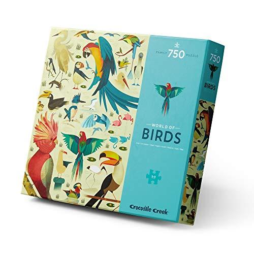 Crocodile Creek - World of Birds - Rompecabezas de 750 piezas - para todas las edades de 4 años en adelante - Caja resistente para almacenamiento - Puzzle acabado de 45,7 x 60,9 cm
