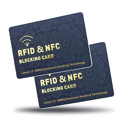 RFID Blocking Card voor portemonnee, Creditcard Protector slimste oplossing voor volledige bescherming portemonnee, NFC Contactloze kaart bescherming voor Bank Debit Card