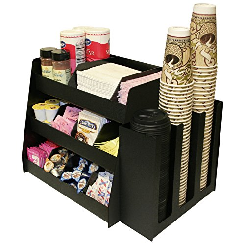 Coffee Condiment Organizer and Cup or Lid Holder Combo Use Together or Separate Great for K-Cups Made in USA