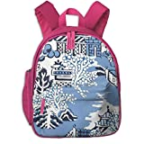 ADGBag Mochila para niños Blue & White China Blue Willow Bathmat Rug Kids School Backpack School Bookbag Kid Toddler Backpack Backpack For 2-9 Year Old Girl Boy