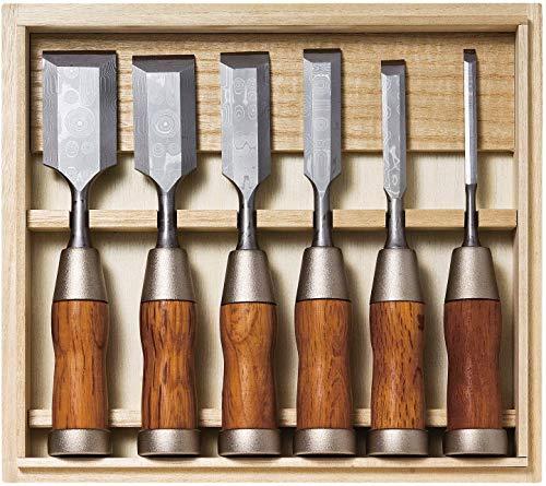 KAKURI Japanese Chisel Set 6-piece, Made in Japan