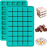Mayplus 40-Cavity Square Caramel Candy Chocolate Truffles Silicone Molds, for Homemade Whiskey Ice Cube Hard Candy, Truffle Chocolate, Keto Fat Bombs, Gummy, Jello, Peanut Butter Fudge