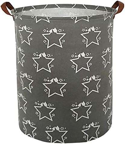 HIYAGON Large Storage Baskets,Waterproof Laundry Baskets,Collapsible Canvas Basket for Storage Bin for Kids Room,Toy Organizer,Home Decor,Baby Hamper (Love elephant)