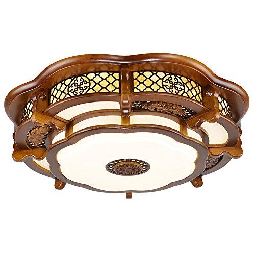 BRIGHTLLT Plafonnier chinois haute ronde salon des arts en bois classique d'émulation d'éclairage des lampes restaurant étude,villa de 600mm fonctionne