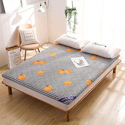 Colchones Colchón de piso japonés futón colchón, tapete de tatami para dormir, enrollar el colchón del plato futón para niños niñas, colchón portátil para adultos turismo camping yoga Textiles del hog