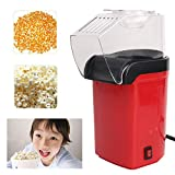 Queta Mini machine à pop-corn électrique maison DIY rouge