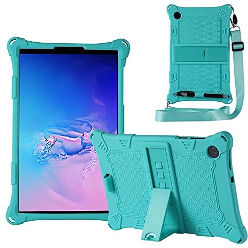 "KATUMO Funda Compatible con Lenovo Tab M10 HD 10.1"" 2020 (2.a generación TB-X306F / X306X), Silicona Carcasa para Lenovo Tab M10 FHD Plus 10.3"" 2020 (TB-X606F / X606X) ,Menta Verde"