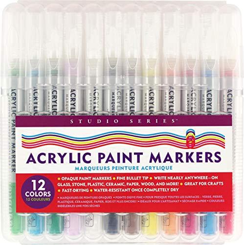 Studio Series Acrylic Paint Marker Set (12-piece set)
