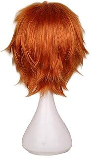 FHKGCD Perruque De Cosplay Cheveux Courts Mâle Partie 30 Cm Fibre Haute Température Perruques De Cheveux Synthétiques