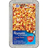 Reynolds Kitchens Giant Pasta Aluminum Pans, 19.5 x 11.5 Inch, 3 Count