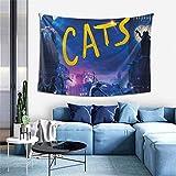 Arazzo morbido da appendere alla parete con gatti, decorazioni per la casa, per soggiorno, camera da letto, dormitorio, 150 x 100 cm