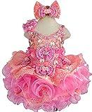 Jenniferwu G274 Infant Toddler Baby Newborn Little Girl's Pageant Party Birthday Dress Pink Size 3T