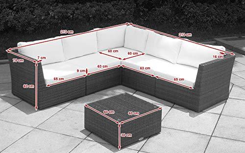 Baidani Designer Sitzgruppe Atmosphere, 1 Ecksofa, 1 Tisch mit Glasplatte, 2 Bezugsgarnituren, schwarz Bild 6*