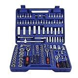 Set di Chiavi a Bussola 171 Pezzi, Kit di riparazione auto con set di chiavi a cricchetto