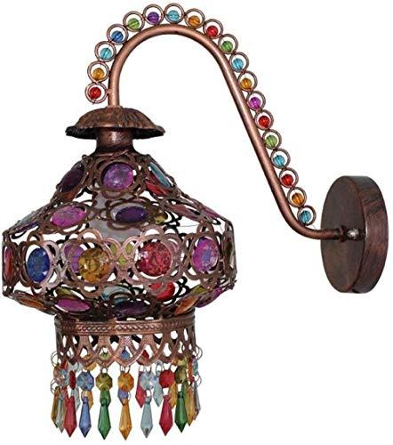 Spots Lamp Muur armaturen Verlichting Lampen Muur Wassen Lichten Wandlamp Antieke Bronzen Gem Marokkaanse Stijl Wandlamp Plafond Lampen Fitting Ronde Universele Wandlamp