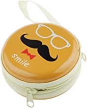 Humble Hipster Multi Purpose Cute Tin Plate Case for Earphones, Pen Drives, SD Memory Cards, Keys, Coins Metallic, 7 cm (Small, Yellow)
