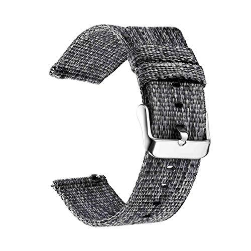 BJKKM Elegante semplicità Nylon 18mm 20mm 22mm Guardando for Samsung Galaxy Watch 46mm 42mm for Gear S3 S2 S2 Sport Guarda Sostituzione Cinturino per Bip AmazFit Guarda Gli Accessori